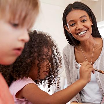 maestro y niños